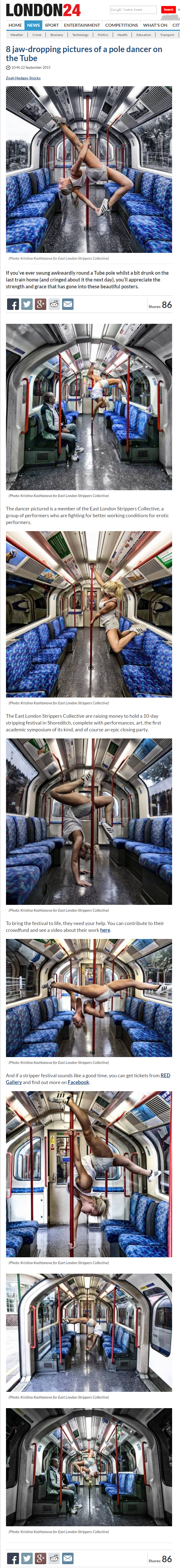 8 jaw dropping pictures of a pole dancer on the Tube   Quirky London   London 24.png